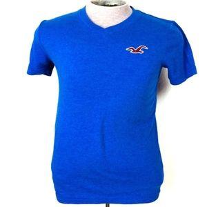 Hollister Men's Blue Short Sleeve T-Shirt Size S